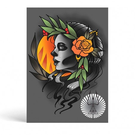 Laurel Girl Sheet - Ivanuko Tattoo -