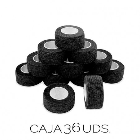 Caja Vendas Cohesivas con Latex Negras - 36 uds. -