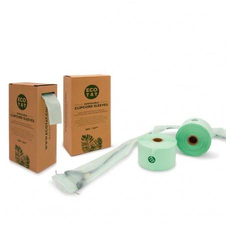 Caja de 250 Fundas para Cables Clip Cord ECOTAT- 50mm
