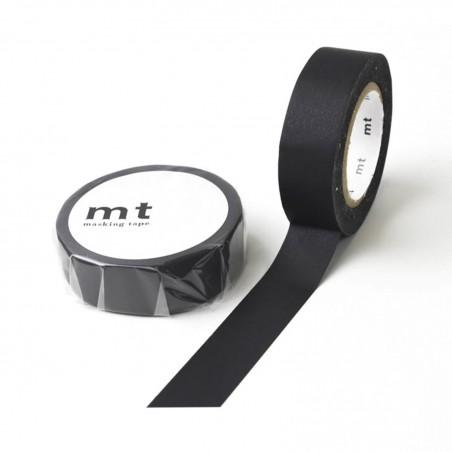 Cinta Adhesiva de Papel Negra - 15 mm x 10 m