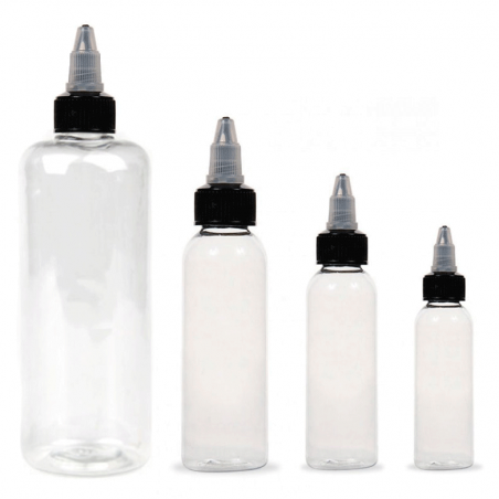 1oz. - Botella Transparente para Tinta -