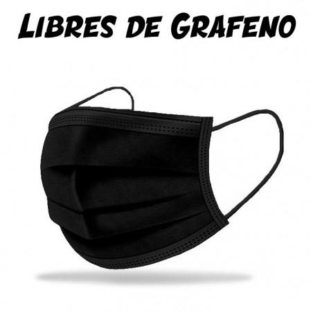 Mascarillas de Desechables Negras - Paquete 50 uds.