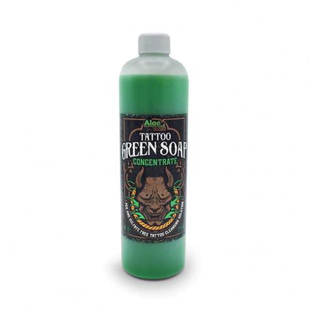 Green Soap Concentrate 500 ml de Aloe Tattoo
